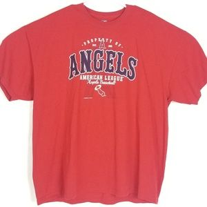 MLB Los Angeles ANGELS Red Fan Shirt size 2XL